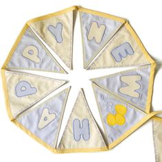 """Festive """"Happy New Year"""" bunting with gold and silver flags to last for years. Ideal for decoration during New Year's or a season's gift."""