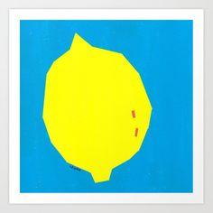 homedecor scandinavian Modern Minimal Food Painting Abstract Lemon Art Print by lennaarty Lenna Arty Food Art Painting, Painting Abstract, Minimalist Painting, Minimalist Art, Modern Art, Contemporary Art, Lemon Art, Easy Paintings, Scandinavian