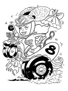 Coloring Book Pages Cars Lowrider Autos Car Art