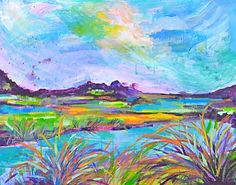 Marsh Color - $480 - 24x30 http://www.marquindesigns.com/shop/marsh-color/