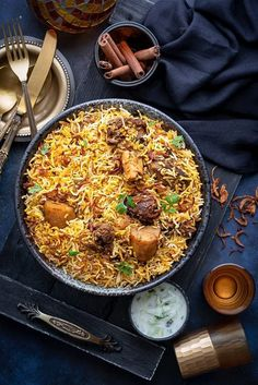 Best Mutton Biryani recipe or Gosht Biryani – A royal dish that indeed needs no introduction or special mentions. That beautifully spiced and fragrant layers of biryani rice centred with juicy, tender mutton and masalas is pure bliss. Best Mutton Biryani Recipe, Lamb Biryani Recipes, Rice Recipes, Indian Food Recipes, Dinner Recipes, Cooking Recipes, Indian Foods, Indian Snacks, Party Recipes