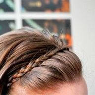 This is adorable. Good for working out too I bet. #braided #hair #headband