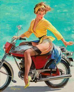 Gil Elvgren  Skirting the Issue (Breezing Up), 1956