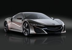 2012 Honda NSX Concept for the first time shown in Europe by Honda at the Geneva Motor Show. Honda NSX is known as the 2012 Acura NSX in America that was introduced at the Detroit Auto Show. Acura Nsx, Honda S2000, Nissan Nsx, Honda Sports Car, Honda Cars, Honda Auto, Super Sport Cars, Cool Sports Cars, Nice Cars