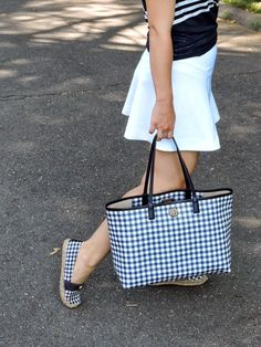 Matching Gingham Tote and Espadrilles