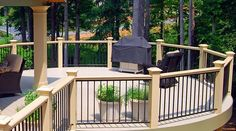 deck railing ideas with wood and iron | Deck Railing Ideas - Landscaping Network