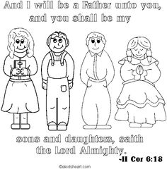 Bible Verses Coloring Pages Memory Verses For Kids, Bible For Kids, Free Bible Coloring Pages, Coloring Pages For Kids, Religion, Christian, Sunday School, Fictional Characters