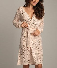 Look at this Vanilla Cream Crochet Robe on #zulily today!
