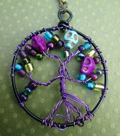 Check out this item in my Etsy shop https://www.etsy.com/listing/239601327/tree-of-death-necklace-day-of-the-dead