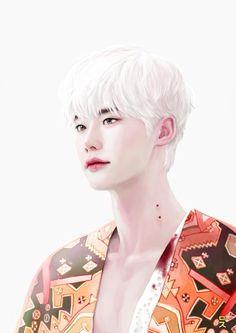 Beautiful fanart from Vampire Sukki Lee Jong Seok, Jong Hyuk, Asian Actors, Korean Actors, Korean Dramas, Kyungsoo, Kdrama, W Two Worlds, Hallyu Star