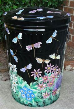 How To Paint On Galvanized Metal Garbage Cans Metals