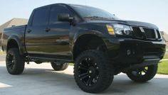 Black Murdered Out Nissan Titan