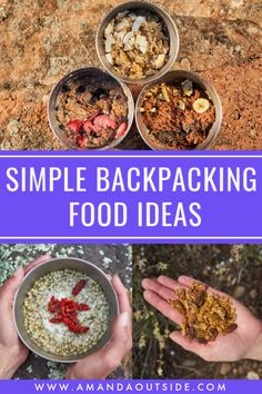 Simple Backpacking Food (What I Eat Backpacking) — Amanda Outside - These are some of the BEST simple backpacking food ideas that are so low-cost and delicious! Dehydrated Backpacking Meals, Dehydrated Food, Best Backpacking Food, Backpacking Checklist, Camping Menu, Camping Recipes, Camping Gas, Camping Foods, Kayak Camping