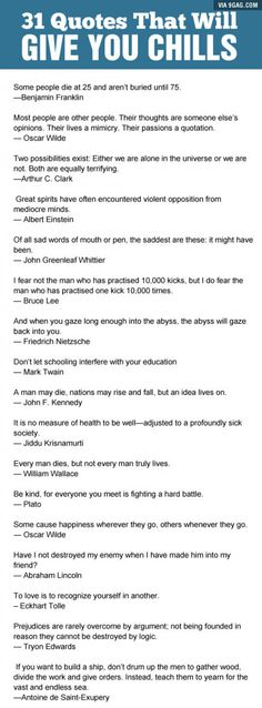Some great quotes about life and it's quality.