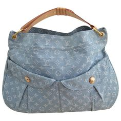 blue Plain Denim - Jeans LOUIS VUITTON Handbag - Vestiaire Collective