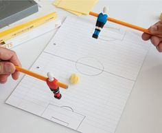 penball by peleg design brings foosball to your desk