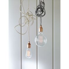 These fabulous copper finish powder coated steel lighting kits are a nod to this season's industrial and vintage trend. Versatile and stylish, each set includes 3 metres of cable in either a black, natural or slate colour, a striking copper finish bulb holder and a simple back steel ceiling rose to let you create your very own lighting solution. Team with our unique bulbs and display in your kitchen or home office. cox & cox £45