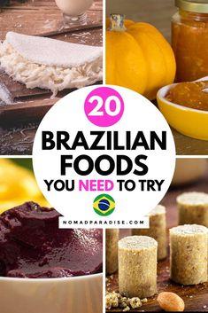 Brazilian Dishes, Brazilian Recipes, International Food Day, Brazillian Food, Around The World Food, World Recipes, Foodie Travel, Street Food, Traditional Brazilian Food