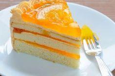 Soft Orange Cream Cake/Tort de portocale cu crema