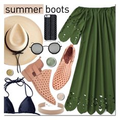 """Summer Booties"" by mada-malureanu ❤ liked on Polyvore featuring Jennifer Zeuner, Coolway, Ryan Roche, Savannah Hayes, Terre Mère, summerbooties and zaful"