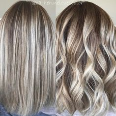Straight or curledDo you have a favorite ??? I love the way Balayage takes on different looks .... curled shows the Rooty dimension and straight shows that perfect blend