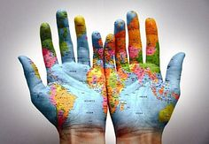 Hand Art ~ The World Is In Your Hands