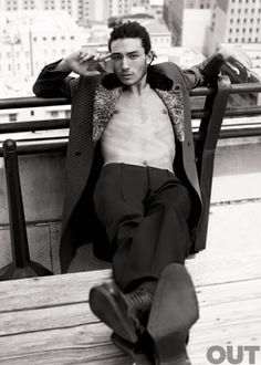 Ezra Miller (click through to read his interview with Out Magazine)