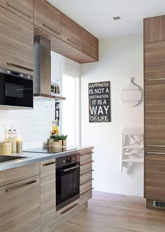 Ikea 39 s sektion cabinets in brokhult walnut gray with white - Cuisine ikea sofielund ...