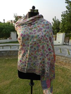 """* A very elegant and warm Multi-color Hand Woven Pure Pashmina Women Ladies shawl to carry.  * Made out of Pashmina.  * Keeps you warm in this winter Season.   * This Pashmina Shawl can be worn any time paired off with your favorite T-Shirt, Top, Jeans, boots etc.  * A must have this festive season.  * The term """"Pashmina"""" is synonymous for soft, fine, high-quality fiber.  * The ancient name of the precious shawls still made by hand in the Central Asian regions is called """"Pashmina""""."""