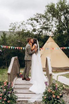 Beautiful boho wedding in Ireland Outdoor Wedding Reception, Wedding Ceremony, Wedding Couples, Boho Wedding, Unique Weddings, Real Weddings, Wedding Styles, Wedding Dresses, Party