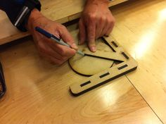 """Center Finder by togo1919 -- Homemade center finder laser-cut from MDF. Intended to accommodate materials up to 5"""" in diameter. http://www.homemadetools.net/homemade-center-finder-3"""
