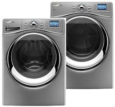 Whirlpool Duet Premium Washer and Dryer. Keeping with Jamie's stainless theme.