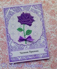 Purple dream - DIES:Marianne Design Creatables Rose LR0294 ~~~ Crealies XXL Crea-Nest-Lies No.4 ~~~