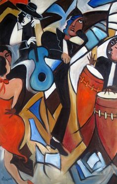 Latin jazz artwork. #music #musicart #artwork. www.pinterest.com/TheHitman14/music-art-%2B/