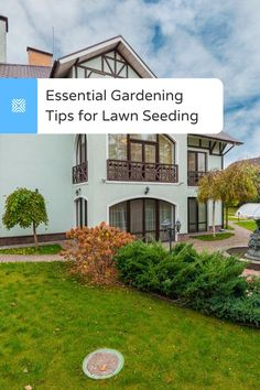 A helpful list of essential gardening tips for homeowners on lawn seeding to help you grow an impeccable new lawn from scratch. Get the best lawncare tips here. Small Outdoor Patios, Outdoor Spaces, Outdoor Living, Landscape Materials, Landscape Design, Budget Patio, Lawn Care, Front Yard Landscaping, Patio Design