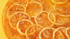 """Lemon upside-down cake recipe - """"A marmalade-like top (or is it bottom?) with overlapping fruit slices is a beautiful part of this lemon upside-down cake. """""""