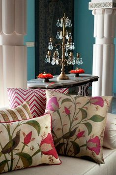 SONG BIRD CUSHIONS Discover our range of rich, evocative and decorative cushions to suit every style. #PillowTalk #Cushions #Colourful
