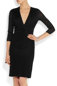 VERSACE Georgette and stretch-jersey dress Was$2,175 Now$1,087.50 50%OFF