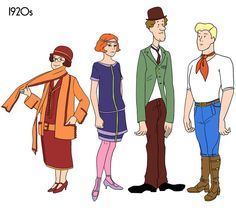 Scooby Gang through the Ages by Julia Wytrazek
