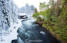 Oulangassa metsä on vehreämpää joen toisella puolella - Tuomas Heinonen Joko, Homeland, Finland, Waterfall, Landscapes, Wildlife, Hiking, World, Winter
