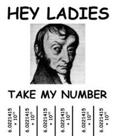 Avogadro's Number Flyer, Chem humor