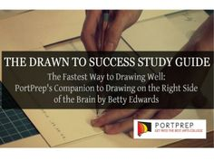 To make the most out of your opportunity at applying to an arts college, you must master hand drawing basics to create stronger artworks to showcase in your portfolio.  If you need improvement in this skill, then the Drawn To Success Study Guide E-Book is for you! View the slide for more information.