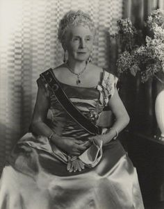 Princess Alice Countess of Athlone the last survivor of Queen Victoria's 40 grandchildren.  A woman of great charm and ability. (She also had lovely dimples.)