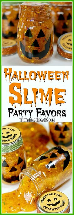 Add some spooky slimy fun to your Halloween party with these fun Halloween Slime Party Favors!
