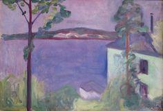 Landscape in Moonlight - Edvard Munch