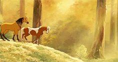 ♡ Spirit, stallion of the Cimarron (JK) Mural idea Dreamworks Animation, Disney And Dreamworks, Disney Pixar, Spirit The Horse, Spirit And Rain, Horse Movies, Spirit Tattoo, Funny Horses, Disney Movies