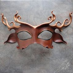 Cernunnos Stag Leather Mask In Dark Chocolate And by beadmask, $85.00