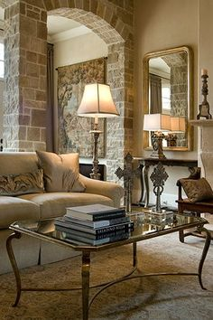 Tuscan room with a modern twist