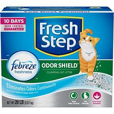 Fresh Step Odor Shield with Febreze Freshness Clumping Cat Litter Scented 20 Pounds