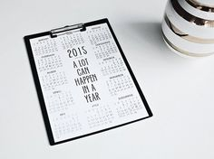 2015 year calendar Motivating quote print A3 or by EpicDesignShop - My blog: ReidunBeate.femelle.no